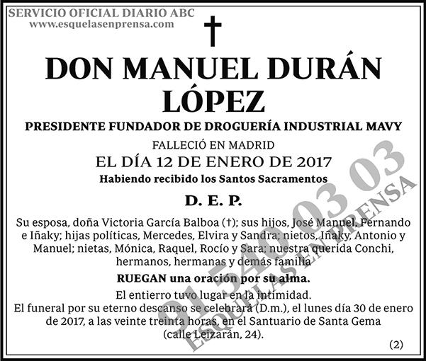 Manuel Durán López